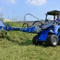 MultiOne mini loader 8 series with flail mower with side shift
