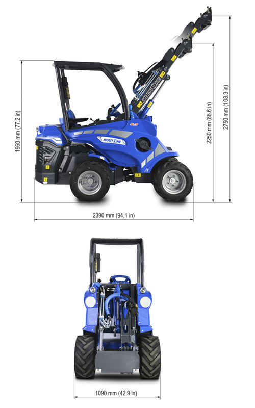 5.3 Multione Mini Articulated Loader Lift Height
